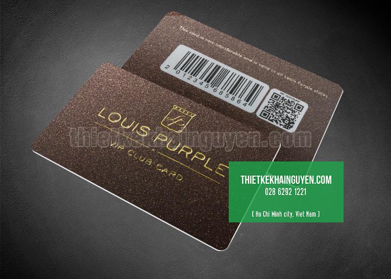 Làm thẻ vip bằng nhựa PVC cán nhám ép kim