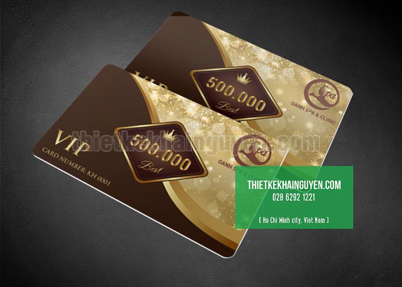 In thẻ VIP cho spa với thiết kế ấn tượng