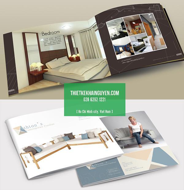 Kiểu thiết kế brochure nội thất khổ ngang