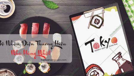 Thiết kế & in ấn bộ nhận diện thương hiệu nhà hàng Nhật