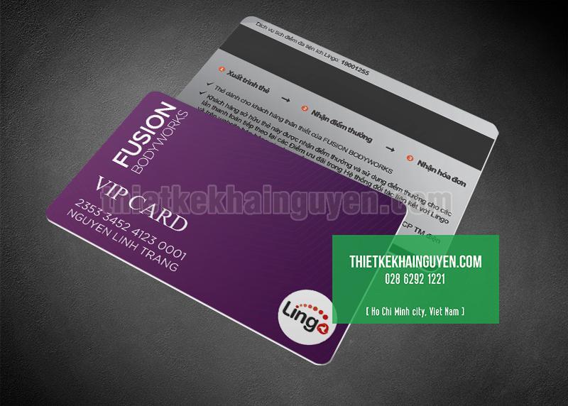 Thiết kế VIP CARD màu tím siêu đẹp