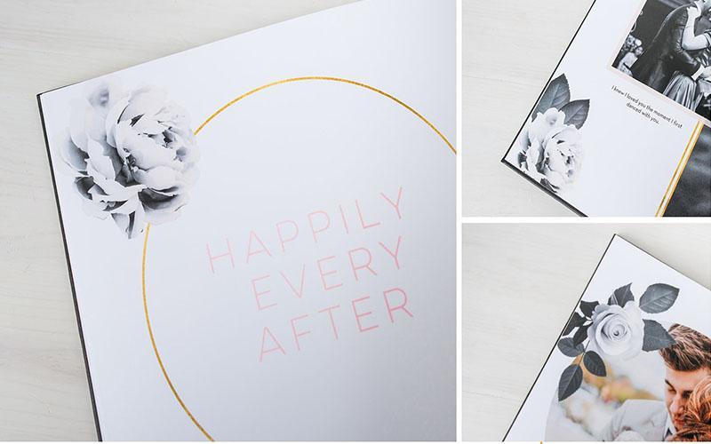 Một vài họa tiết trang trí sẽ tăng thêm sự sinh động cho photobook của bạn