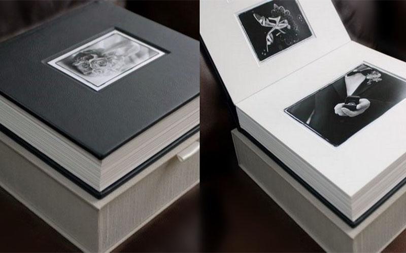 Album cưới dạng photobook với bìa da cực kỳ sang trọng