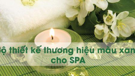 Bộ thiết kế thương hiệu màu xanh ấn tượng cho Spa, Nails Spa, Salon