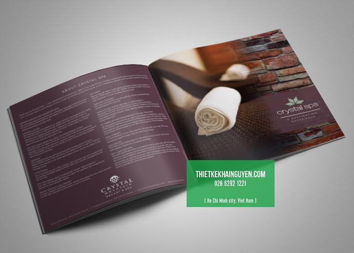 Thiết kế và in brochure spa hình vuông