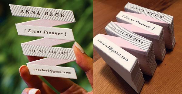 Mẫu name card die cut - lạ về kích thước lẫn hình dạng
