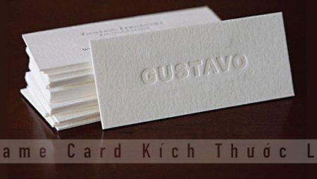 In name card kích thước lạ nên hay không nên in?