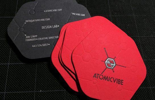 In name card đặc biệt với hình lục giác