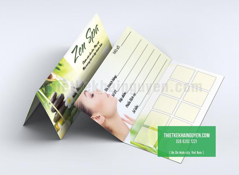 In card visit kết hợp làm phiếu tích điểm