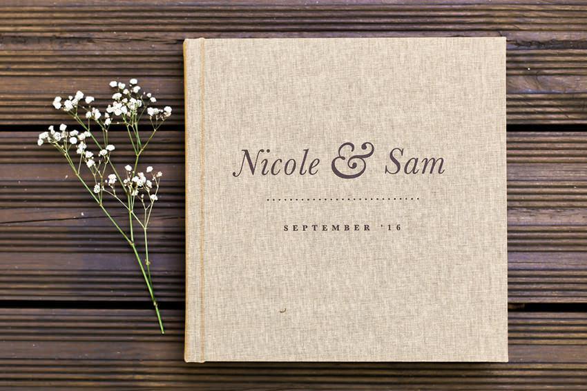 album cưới photobook với bìa vải linen