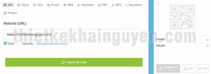 Tạo QR-CODE online tiêu chuẩn - qr-code-generator.com