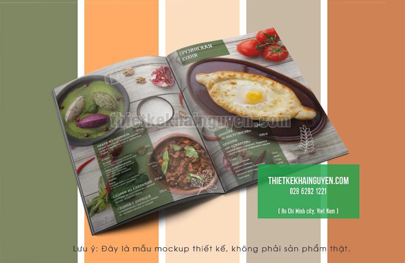 Mẫu thiết kế menu món chính của nhà hàng