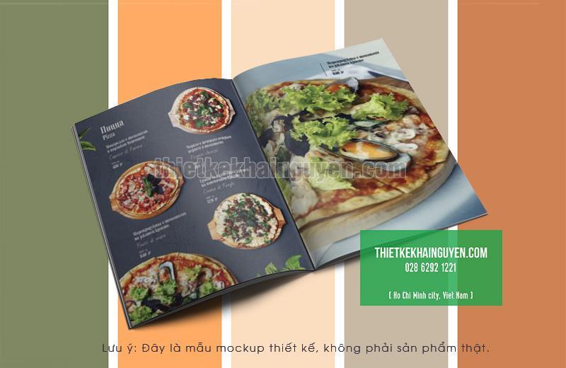 Mẫu menu pizza cho nhà hàng