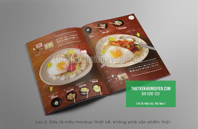 Thiết kế menu nhà hàng - menu khai vị