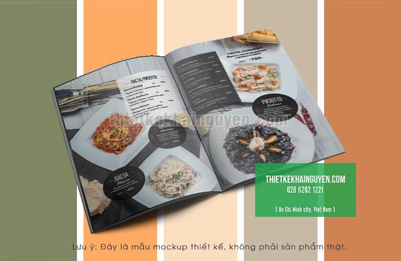 Thiết kế menu pasta - mì ý