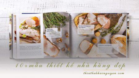 10 mẫu thiết kế menu nhà hàng đẹp trên khắp thế giới