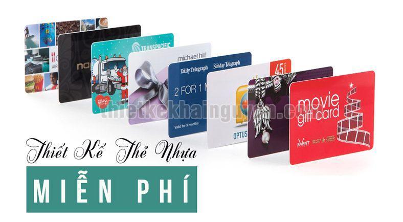 Thiế kế thẻ nhựa miễn phí tại TPHCM