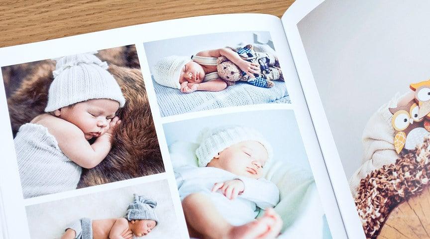 Bạn sẽ dễ dàng quan sát những thay đổi tinh tế nhất của bé qua từng thời kỳ với cuốn sách ảnh trẻ em