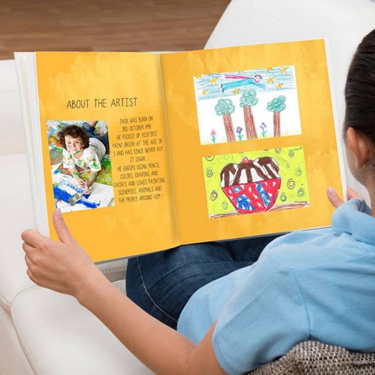 Những sáng tạo thú vị của bé sẽ được lưu giữ hoàn hảo với cuốn sách ảnh trẻ em