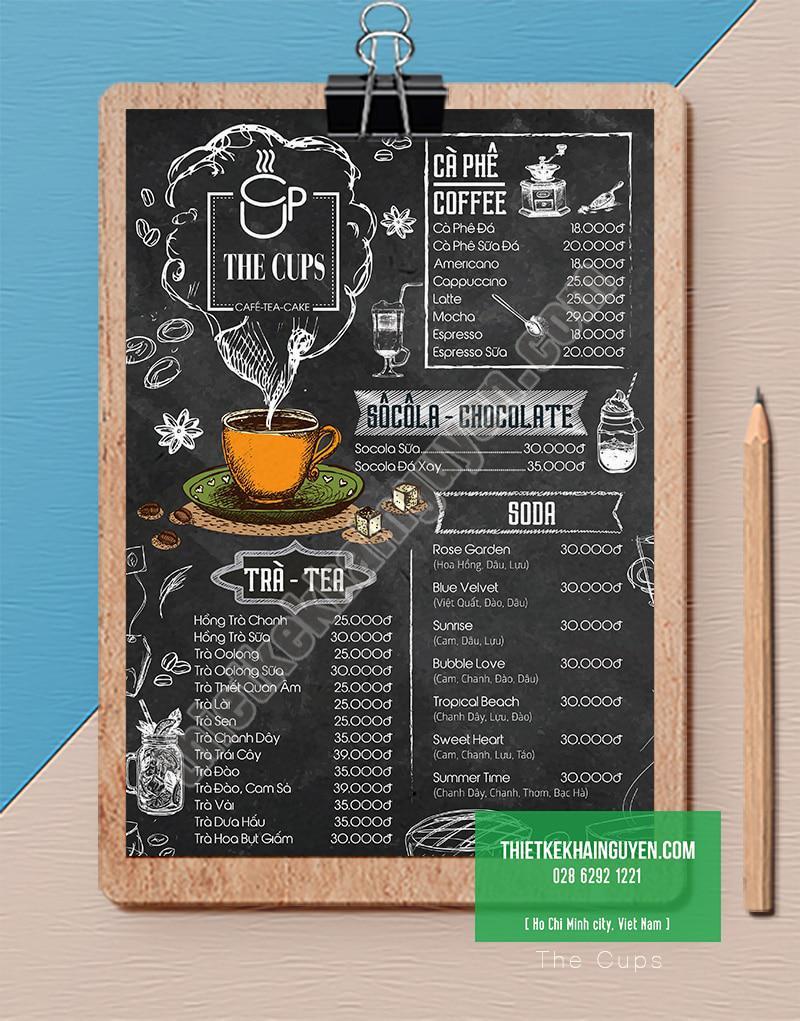 Thiết kế menu cà phê đẹp với phong cách cổ điển