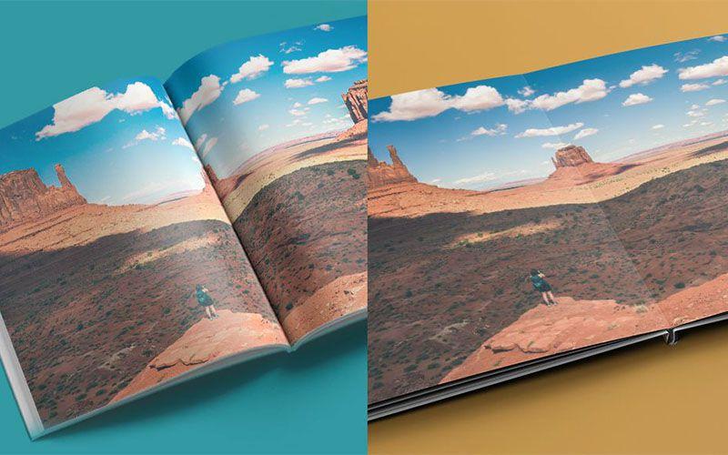 Sự khác biệt giữa photobook tạp chí và photobook mở phẳng
