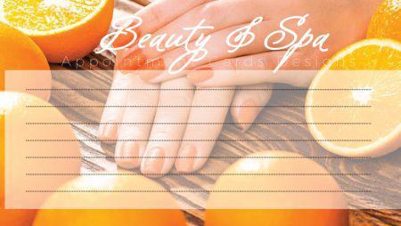 Sản phẩm mới: Spa Appointment Cards – phiếu lịch hẹn cho Spa