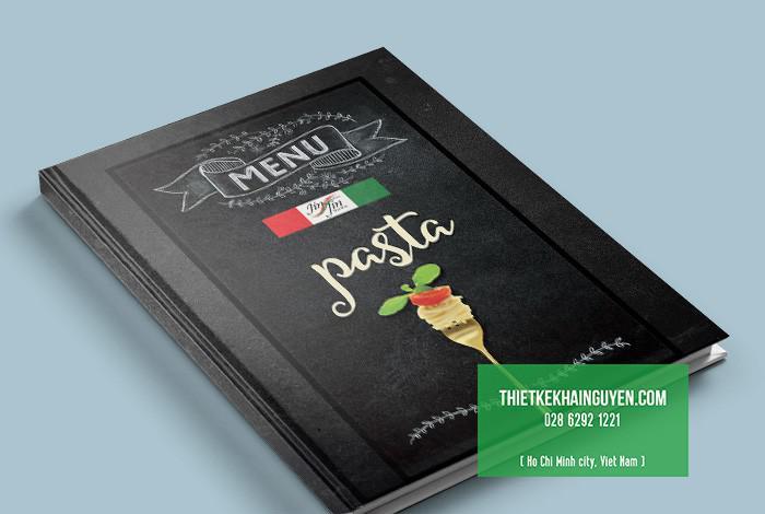 Mẫu bìa thực đơn nhà hàng Nhật Jinjin