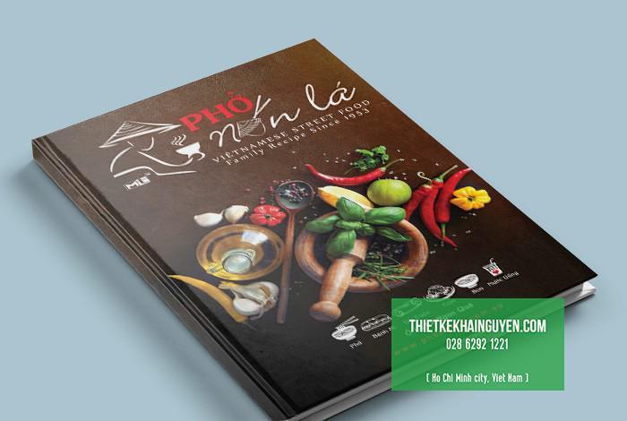 Thiết kế bìa menu nhà hàng Phở Nón là tại ÚC