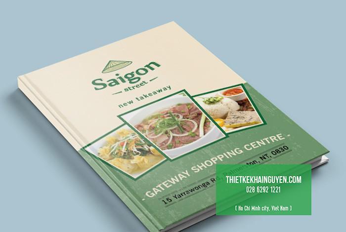 Bìa menu nhà hàng Sai Gon Street