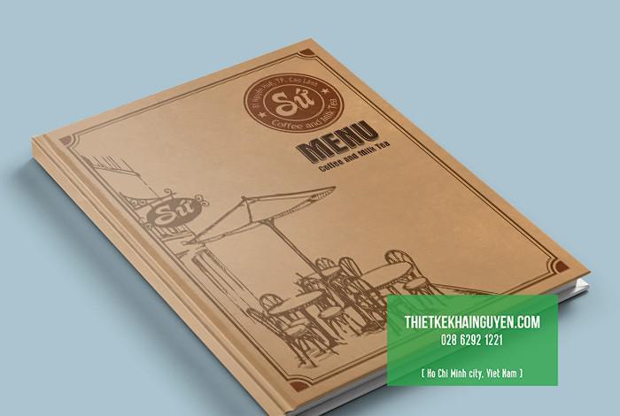 Kiểu thiết kế bìa menu phong cách cổ điển - vintage