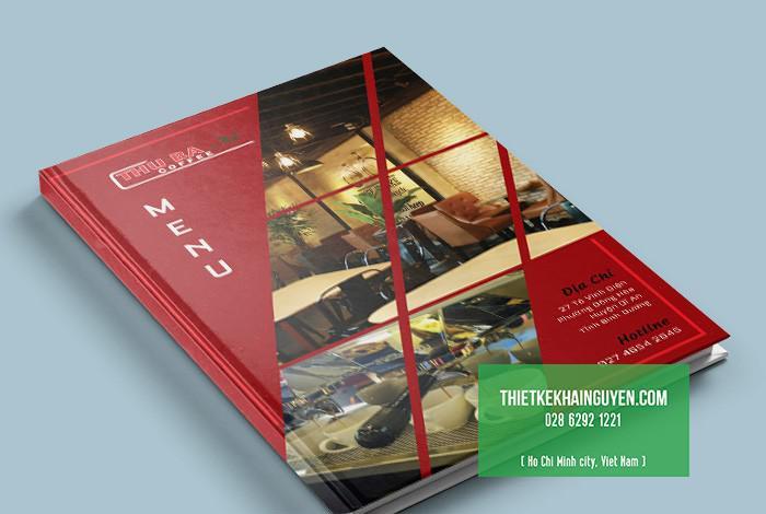 Mẫu thiết kế bìa menu THU BA coffee