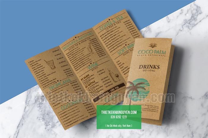 Brochure menu - menu to - menu mang về