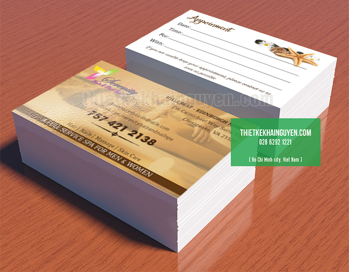 Thẻ lịch hẹn - Spa Appointment Cards