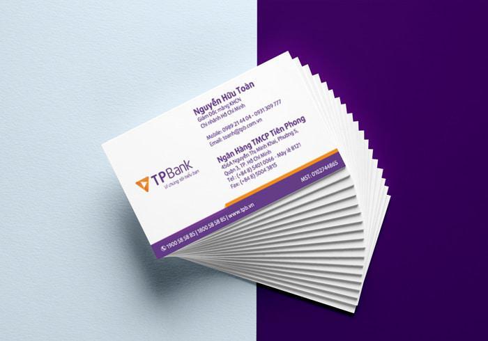 Mẫu thiết kế name card ngân hàng TP-Bank