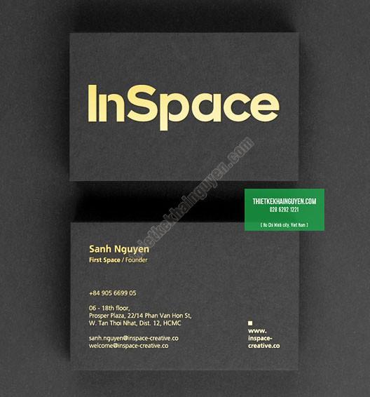 Name card ép nhũ vàng - card Inspace