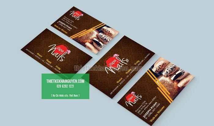 In card visit cho Spa - Thiết kế thương hiệu Ispa Nails