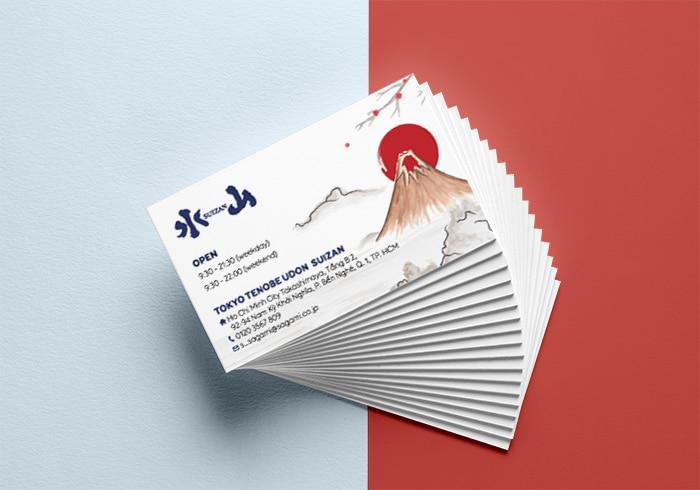Card visit nhà hàng Nhật - card nhà hàng Suizan