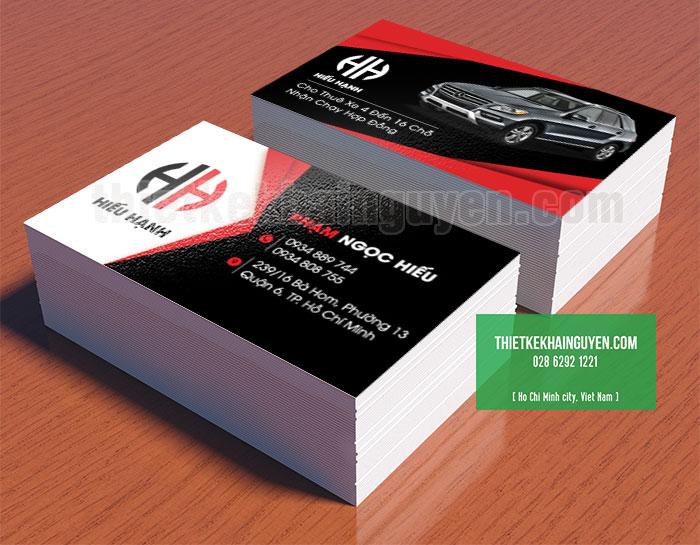 Mẫu card visit cho nhà xe, đơn vị cho thuê xe