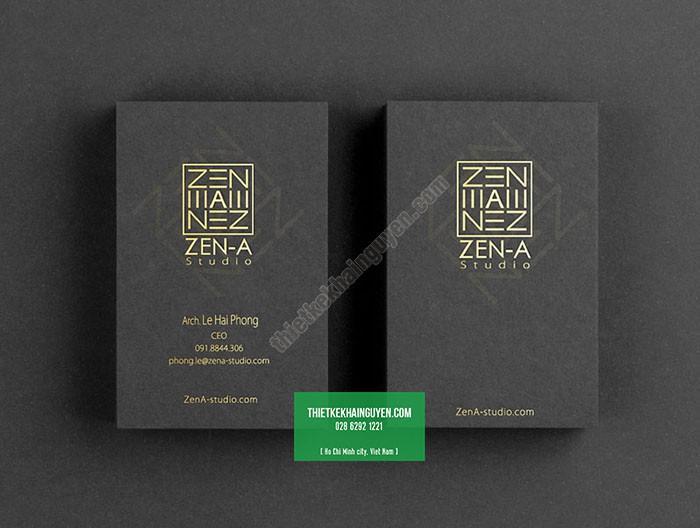 Ấn tượng với card visit ép kim của Zen a Studio