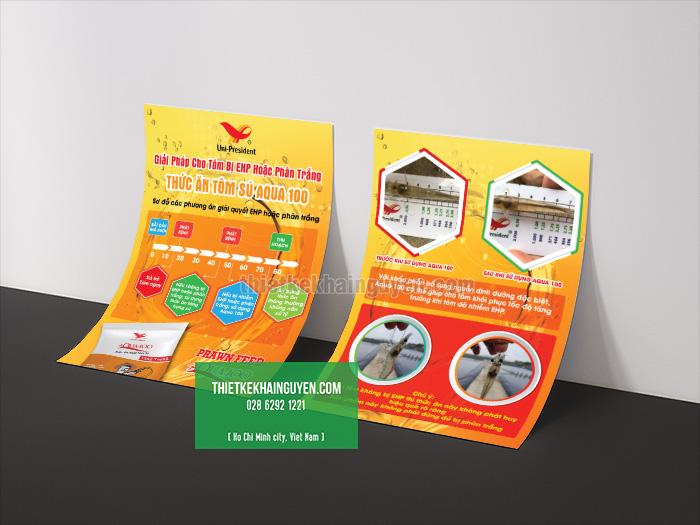 Flyer ngành thủy sản với thiết kế ấn tượng