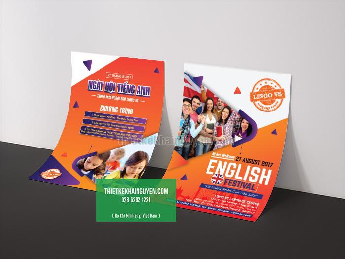 Mẫu flyer dành cho trường anh ngữ