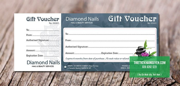 Gift certificate của Diamond Nails
