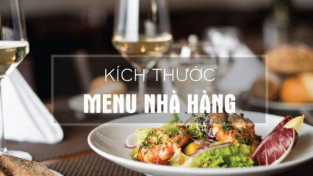 Kích thước menu nhà hàng – sự lựa chọn nào tốt nhất?