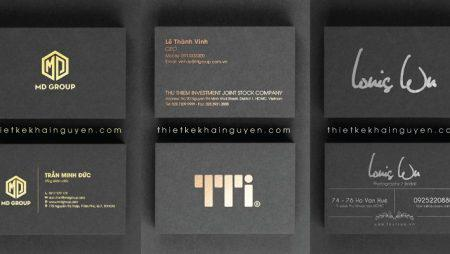 10 mẫu card ép nhũ, card ép kim đẹp trên giấy mỹ thuật màu đen