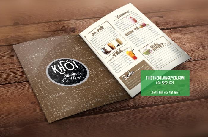 Mẫu menu quán cafe đẹp - menu quán cà phê Khói