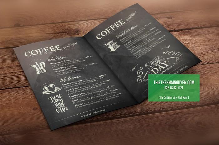 Thiết kế menu bảng phấn cho quán cà phê - KUPPLEI