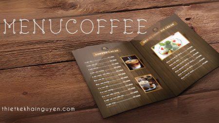 Mẫu menu quán cafe đẹp – menu A4 gấp đôi tiện lợi giá rẻ