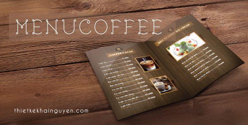 Mẫu menu quán cà phê đẹp