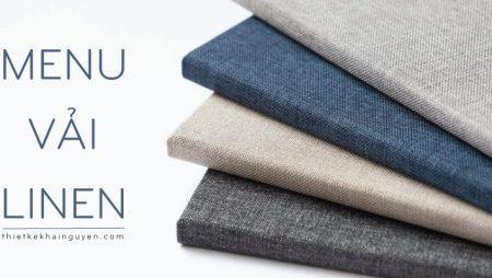 Thực đơn bìa vải linen vải artdo vải dệt bền đẹp cho nhà hàng