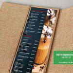 Thực đơn bìa vải cao cấp cho quán cafe